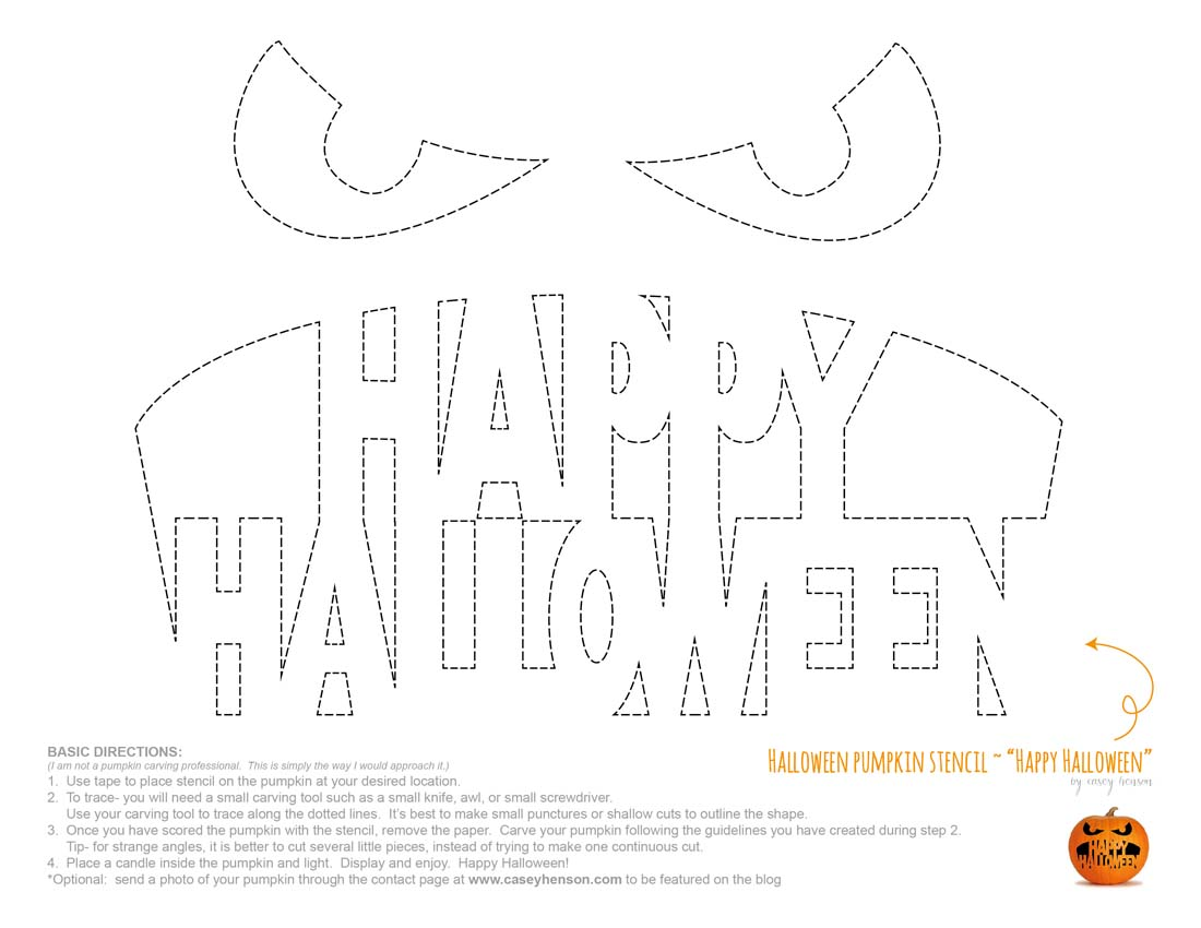 Casey henson blog halloween pumpkin carving stencils the click image pronofoot35fo Images