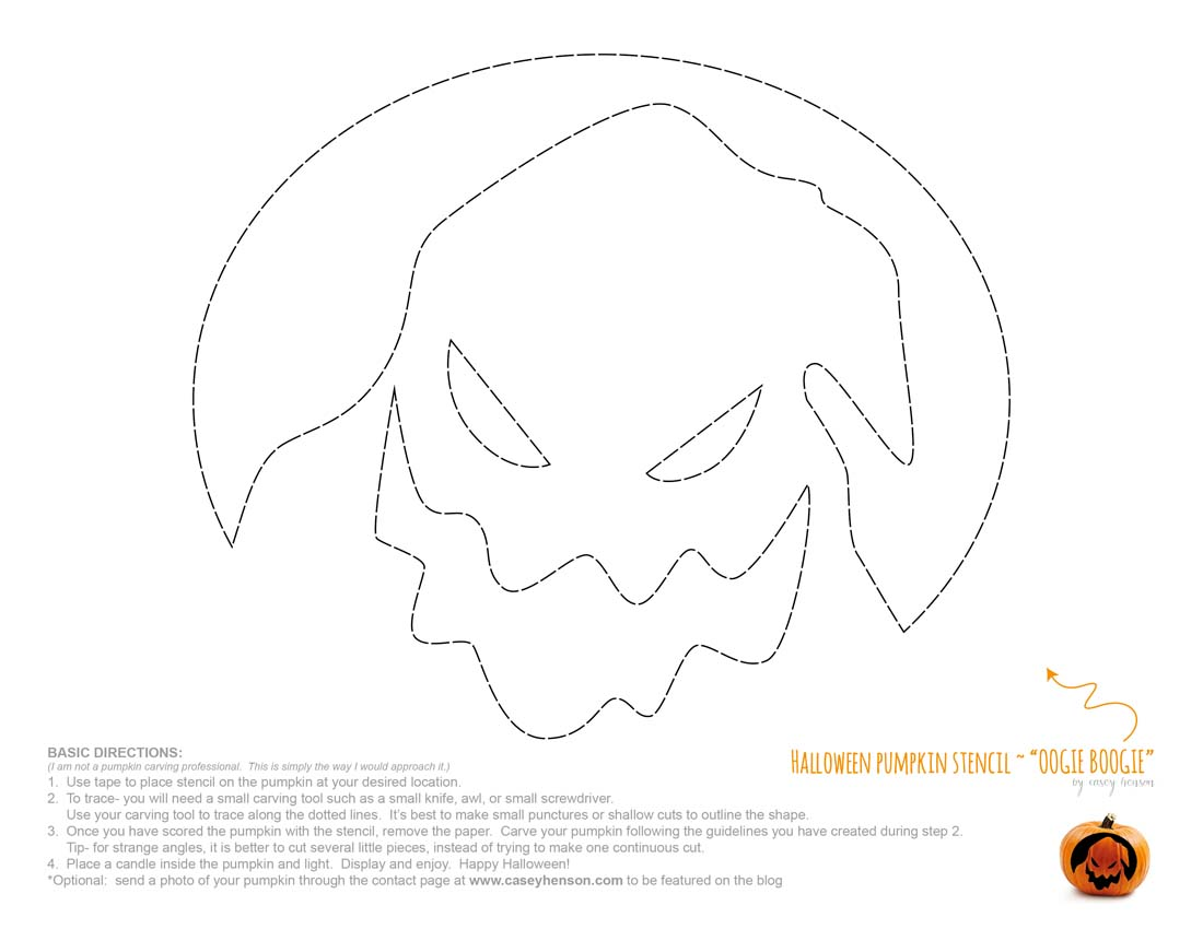 ... - Halloween Pumpkin Carving Stencils: The Nightmare Before Christmas