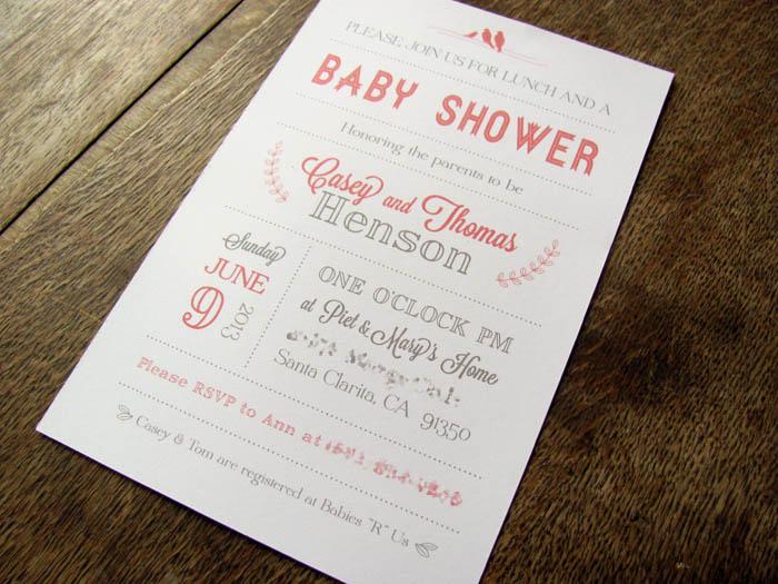 casey henson blog simple baby shower invitation