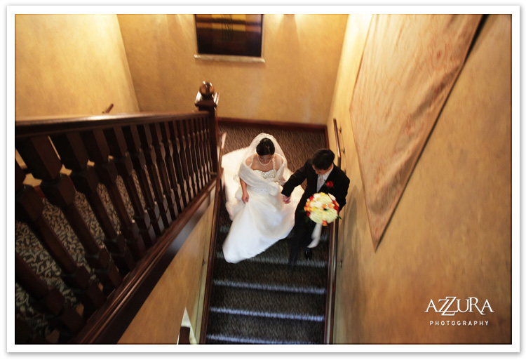 Wedding at Newcastle Golf Course Stairs