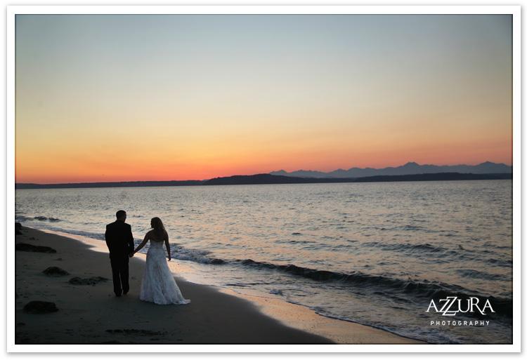 Alki Beach Wedding at Sunset