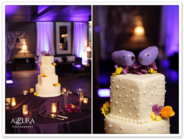 Aisle of View Wedding Cake