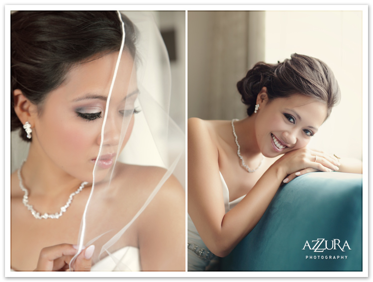 Bride in Tacoma Wedding by Azzura Photography