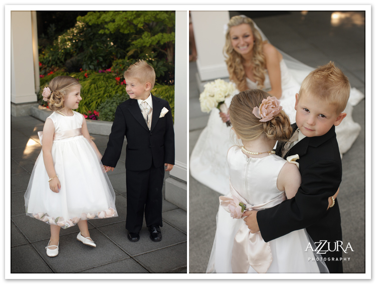 Flowergirl and Ringbearer at Seattle Tennis Club