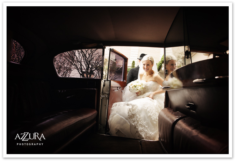 British Motor Coach Classic Wedding Departure