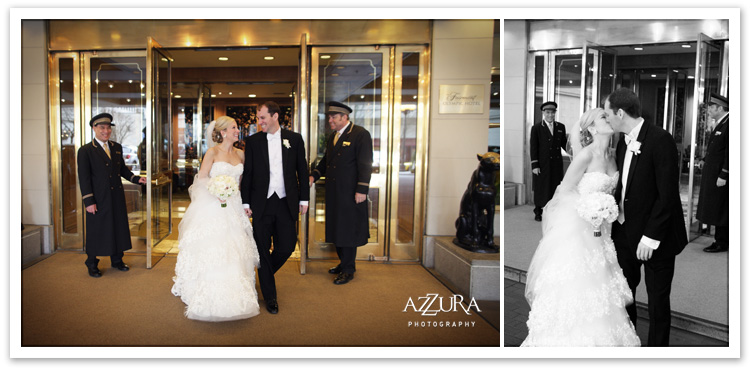 Fairmont Olympic Hotel Seattle Wedding Departure