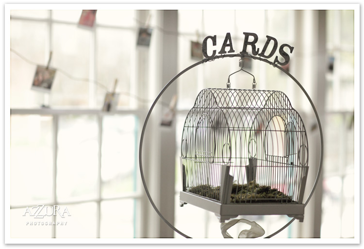 Vintage Bird Cage Wedding Card Holder at The Great Hall at Greenlake