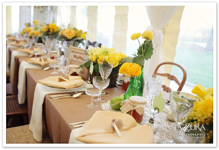 Yellow and Burlap Wedding Details at the Woodmark Hotel
