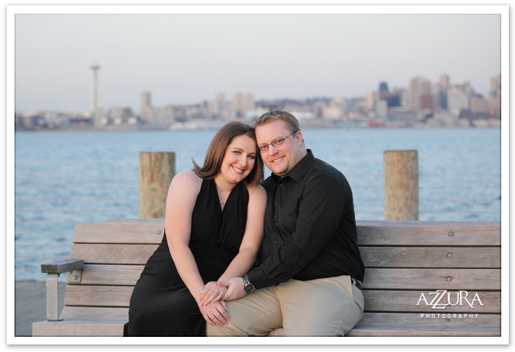 Classic Alki Beach Engagement Photographs