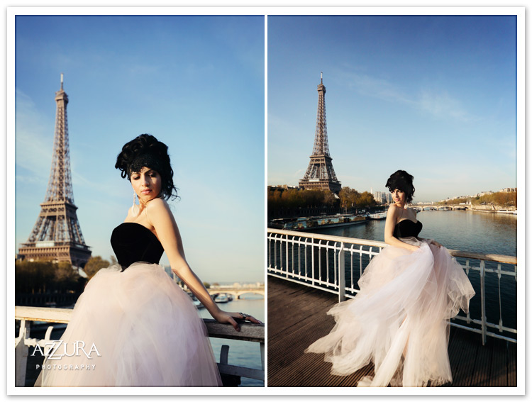 Eiffel Tower Glamour by Azzura Photography