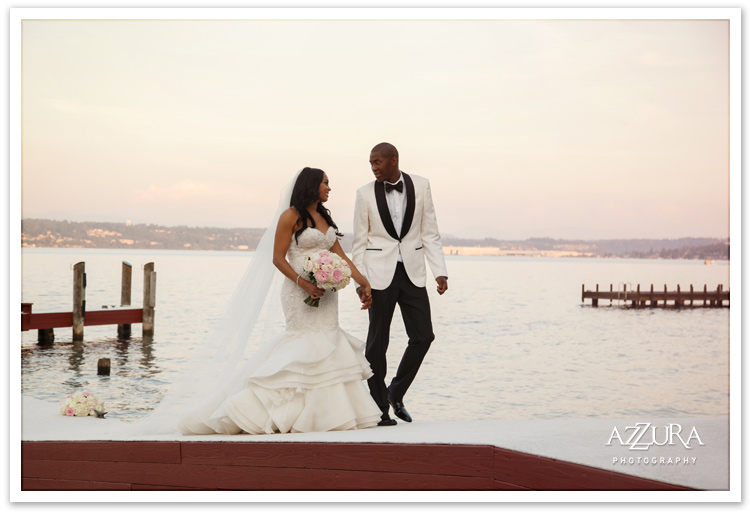 Tori and Jamal Crawford Wedding on Dock