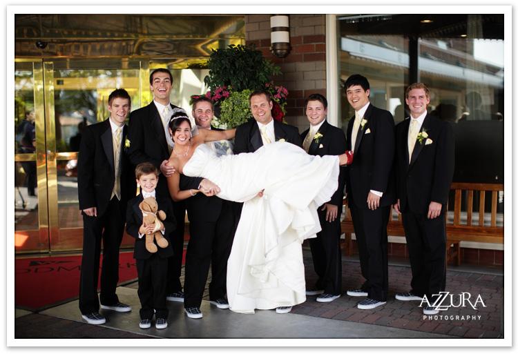 Wedding Party Fun at the Woodmark Hotel in Kirkland WA