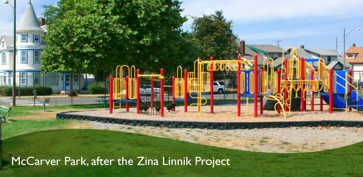 McCarver Park after the Zina Linnik Project