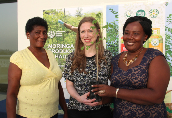 Chelsea Clinton Meets Moringa Farmers in Haiti