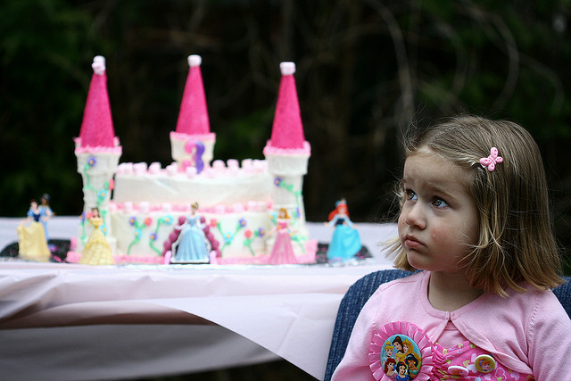 crying at a birthday party