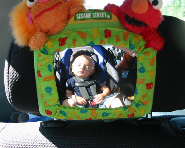 child rear facing mirror