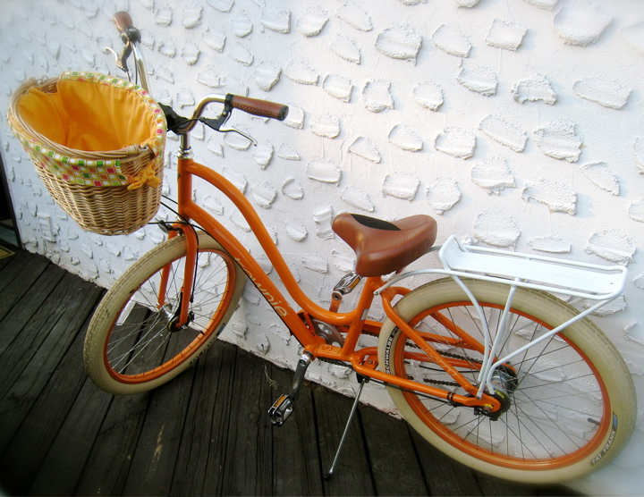 My New Electra Bike Design Style The Color Orange And A Sweet