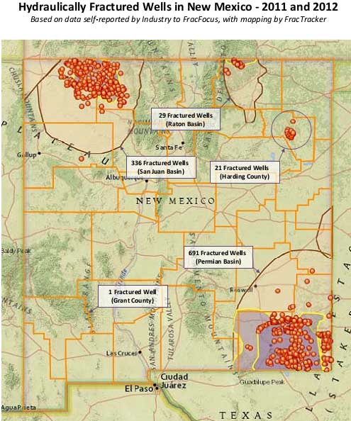 Image result for map of fracking sites in new mexico