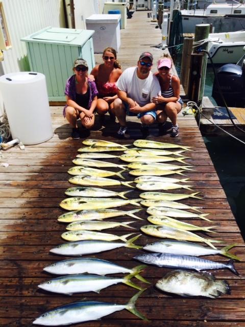 8/14/14 mid August deep sea fishing in Islamorada ...