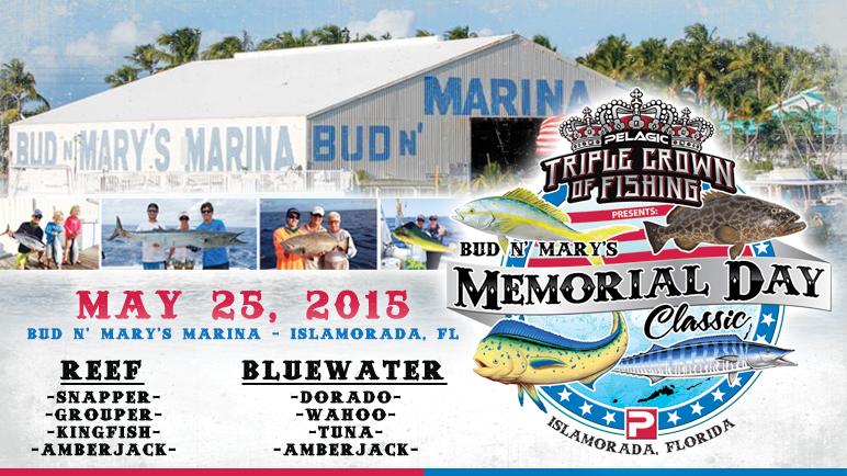 Pelagic triple crown of fishing tournament at bud n 39 mary for Bud n mary s fishing report
