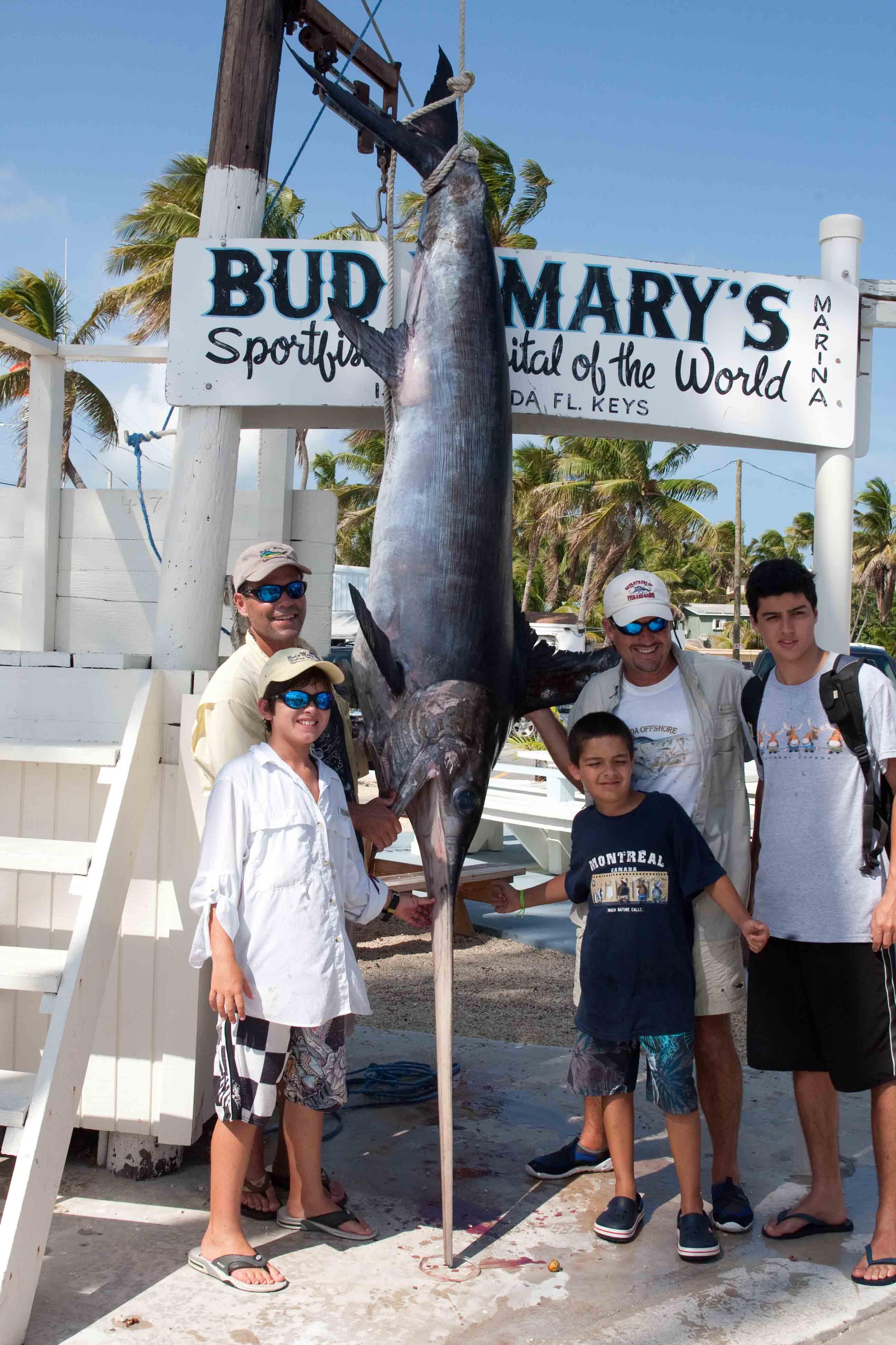 Big swordfish aboard catch 22 islamorada fishing for Bud n marys fishing report