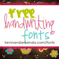 I get the cutest handwriting fonts at Fonts for Peas! kevinandamanda.com/fonts