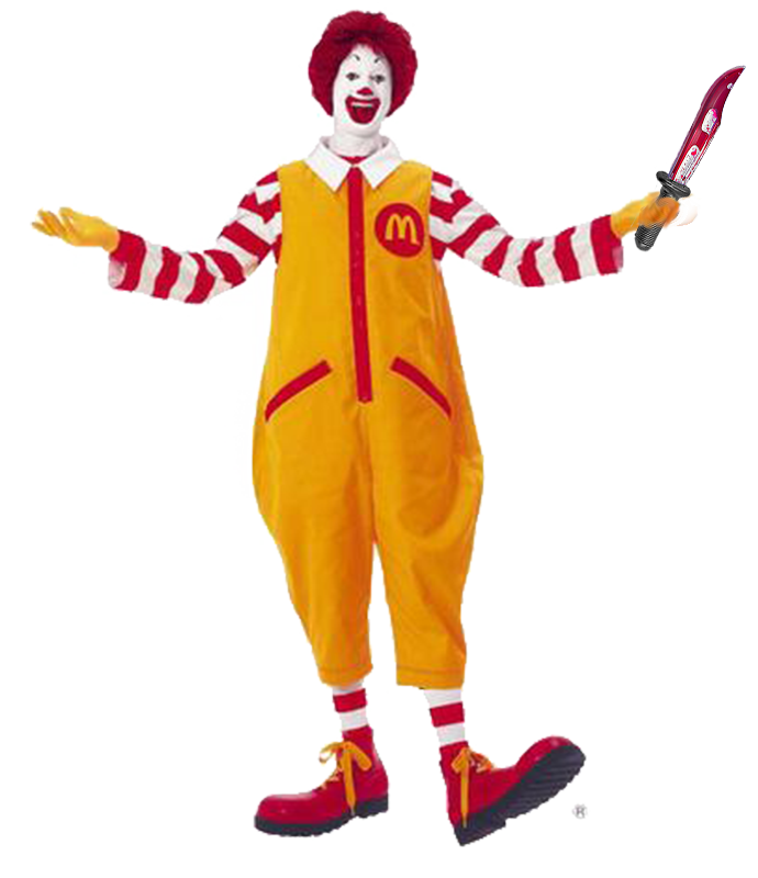 Ronald mcdonald with a knife ronald mcripper attacks fundraising teen