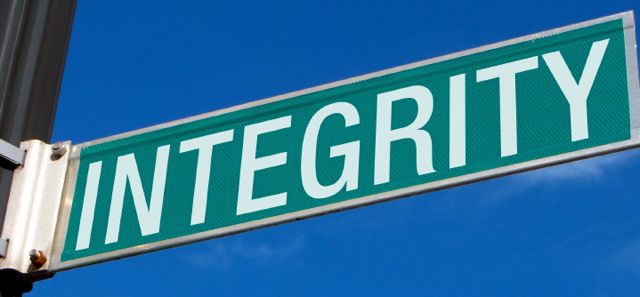 tfwco.com smart business - this photo shows a street sign with the word integrity on it