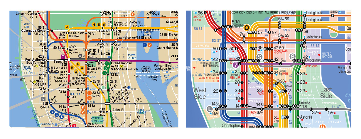 new york city subway map. the current NYC subway map