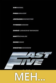 The fact that Fast Five may go down as one of the Summer's top grossers is a frankly, a little baffling.  Sure it had its moments, most notably the bombastic openings & closings.  But the middle is filled with a mostly boring Ocean's 11 knock off that is missing what I was hoping for most: CAR RACING!  Netflix it, maybe, if you've got nothing better to do...