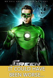 Here's an easy review: It's not the worst thing I've seen this summer.  Not exactly high praise, but this isn't the 20% rotten movie that rotten tomatoes makes it out to be.  Green Lantern succeeds at opening up the curious sci-fi world of the Green Lantern Corp, a sort of intergalactic police force, but where it really fails is making you care about anyone in this world.  It tries to straddle a world somewhere between the wit and playfulness of Iron Man and something more serious, but that just means over the half of the scenes involving people's lips moving will put you to sleep rather than make you chuckle.  There's actually a really disturbing statement by the film-makers in the they handle one of the villains of this film, who slowly adopts more attributes of those marginalized by society as he becomes more 'evil,' but I'll assume that was mostly unintentional (otherwise it would be truly despicable).  But yeah, don't run out and see this.  Pick it up on Netflix if you care, but I'd personally shelve this with other 'who cares' super movies that all but the die-hard and cinematic completionists can probably do with out.