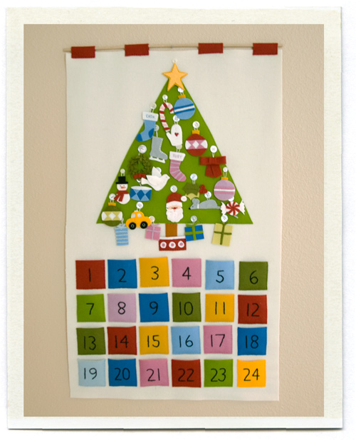 christmas felt wall picture