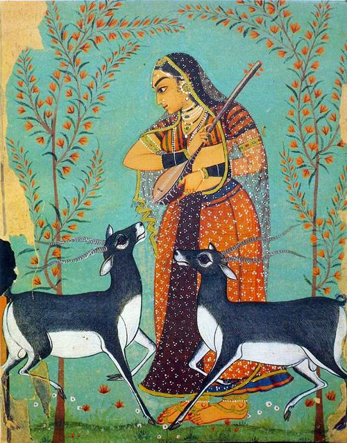 Ragini Ragamala Handmade Painting Rajasthani India Ethnic