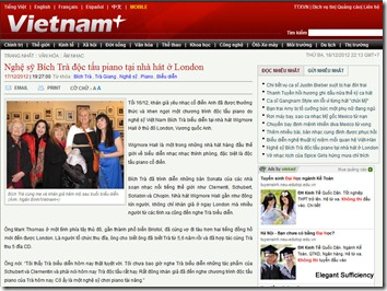 Nghệ sỹ Bích Trà độc tấu piano tại nhà hát ở London -- Vietnam  (VietnamPlus) --- 17122012 - Mozilla Firefox 18122012 221331