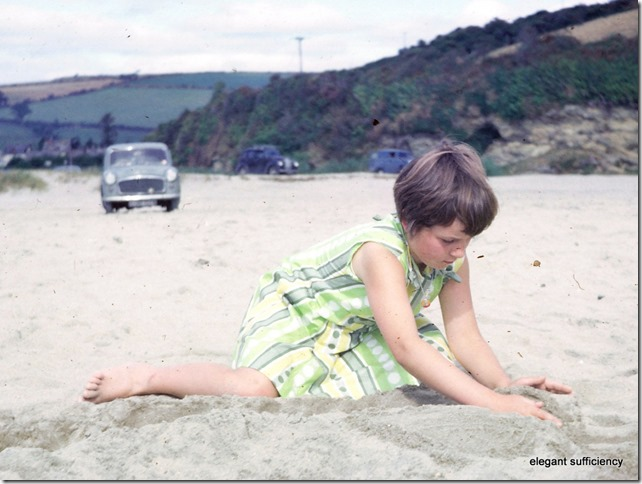 sandcastles at Par in Cornwall