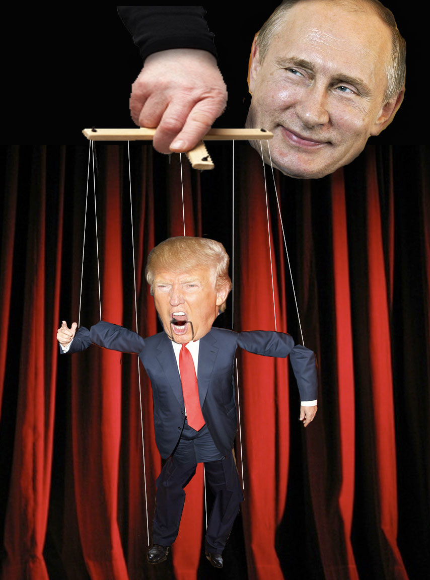 Image result for Donald Trump as puppet pictures