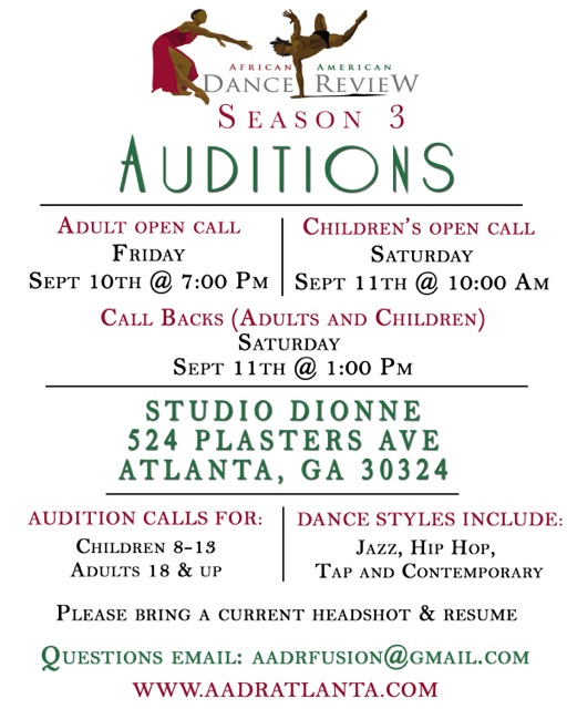 african american dance review auditions atlanta dance auditions