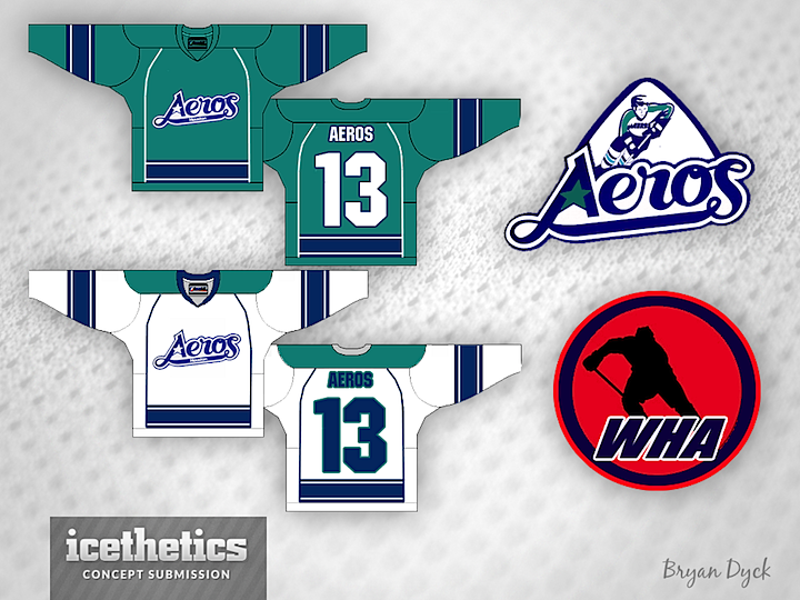 ...the Houston Aeros (before the AHL team assumed the name).