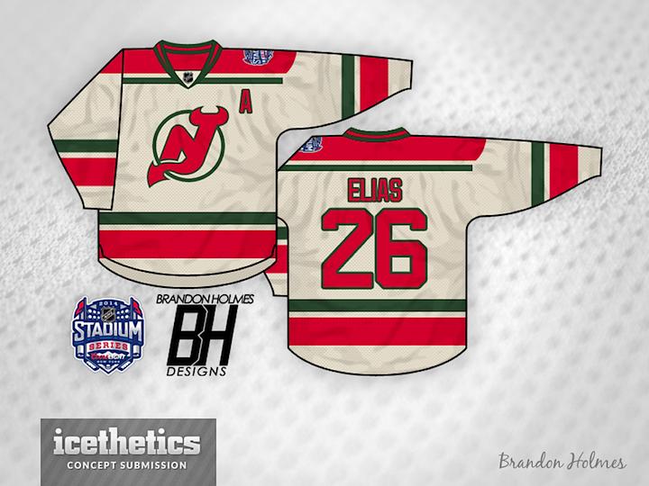 27c181e11 Brandon Holmes has designed the New Jersey Devils  Stadium Series jersey