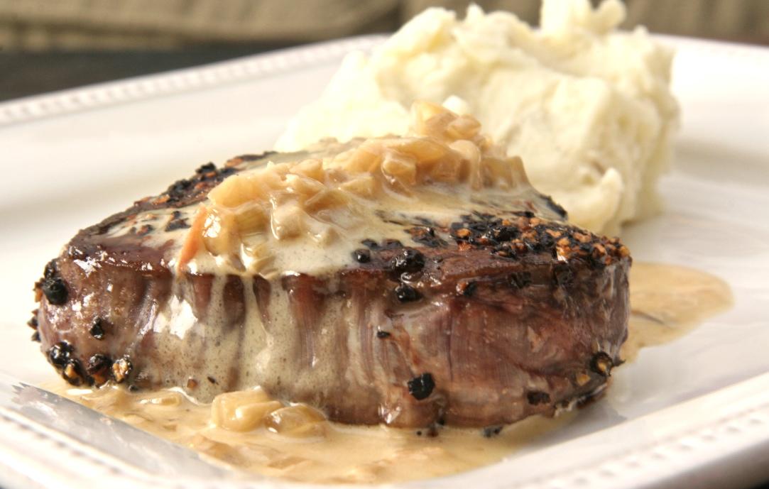Angela's Food Love - Food Blog - steak au poivre, a sumptuous send-off