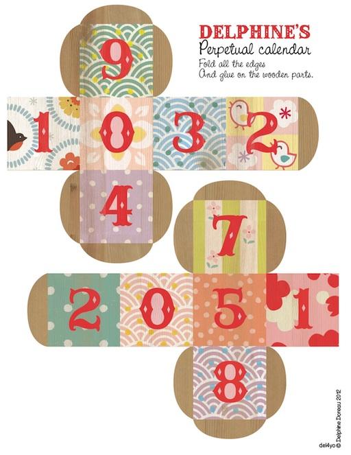 Perpetual Calendar Cube : Le lapin dans la lune non dairy diary back to school