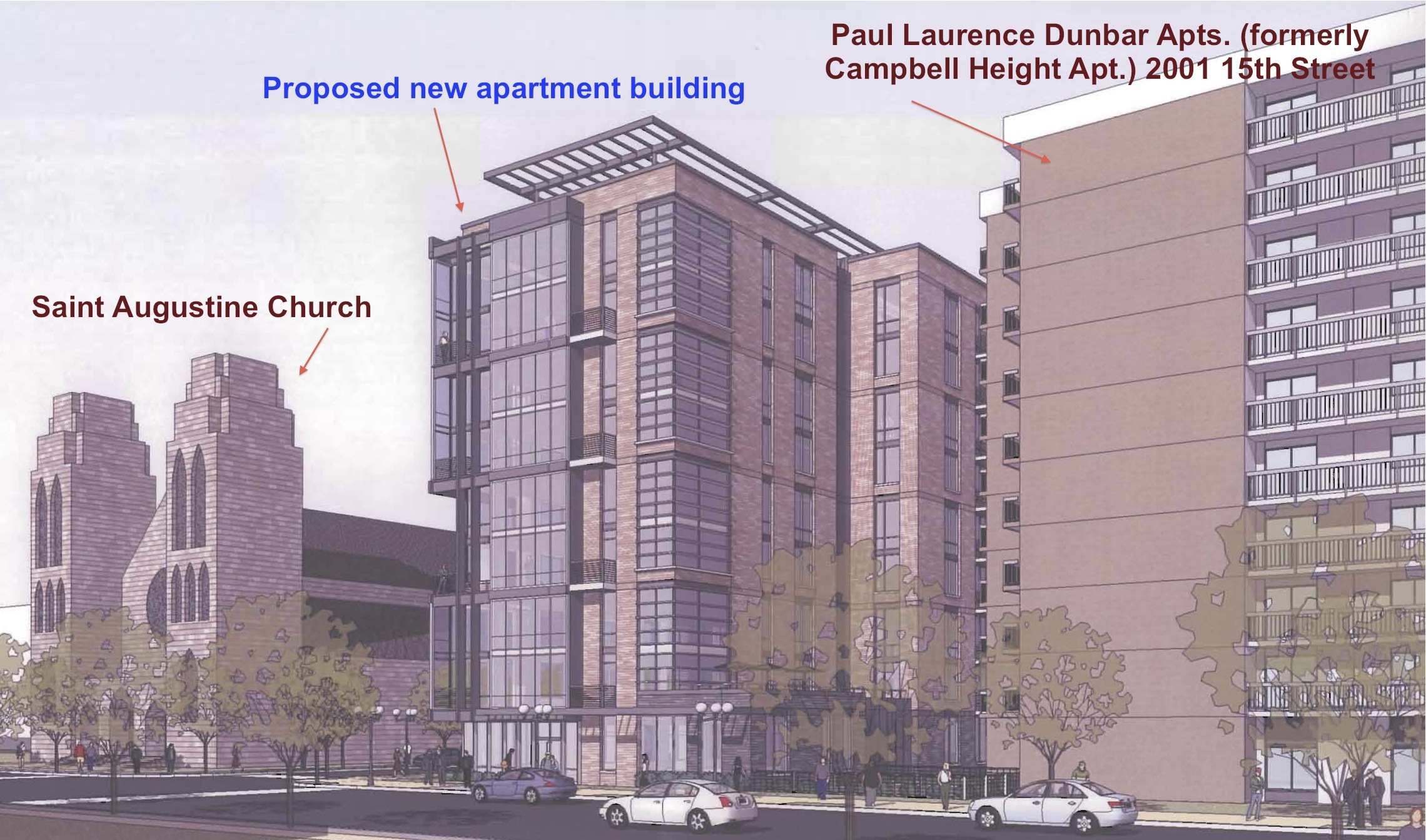 Apartment Building Association revised plans for apartment building at 15th & v - meridian hill