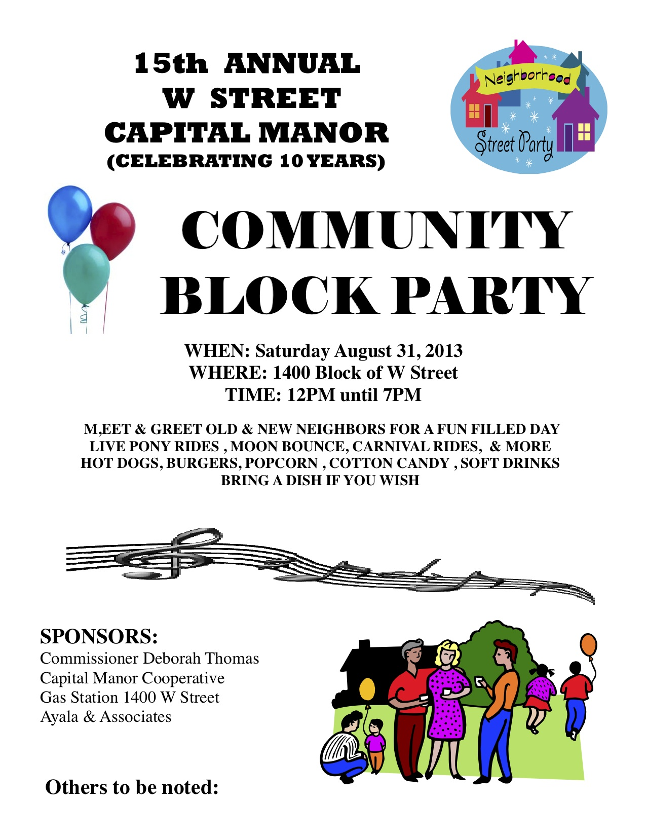15th annual w street capital manor community block party saturday