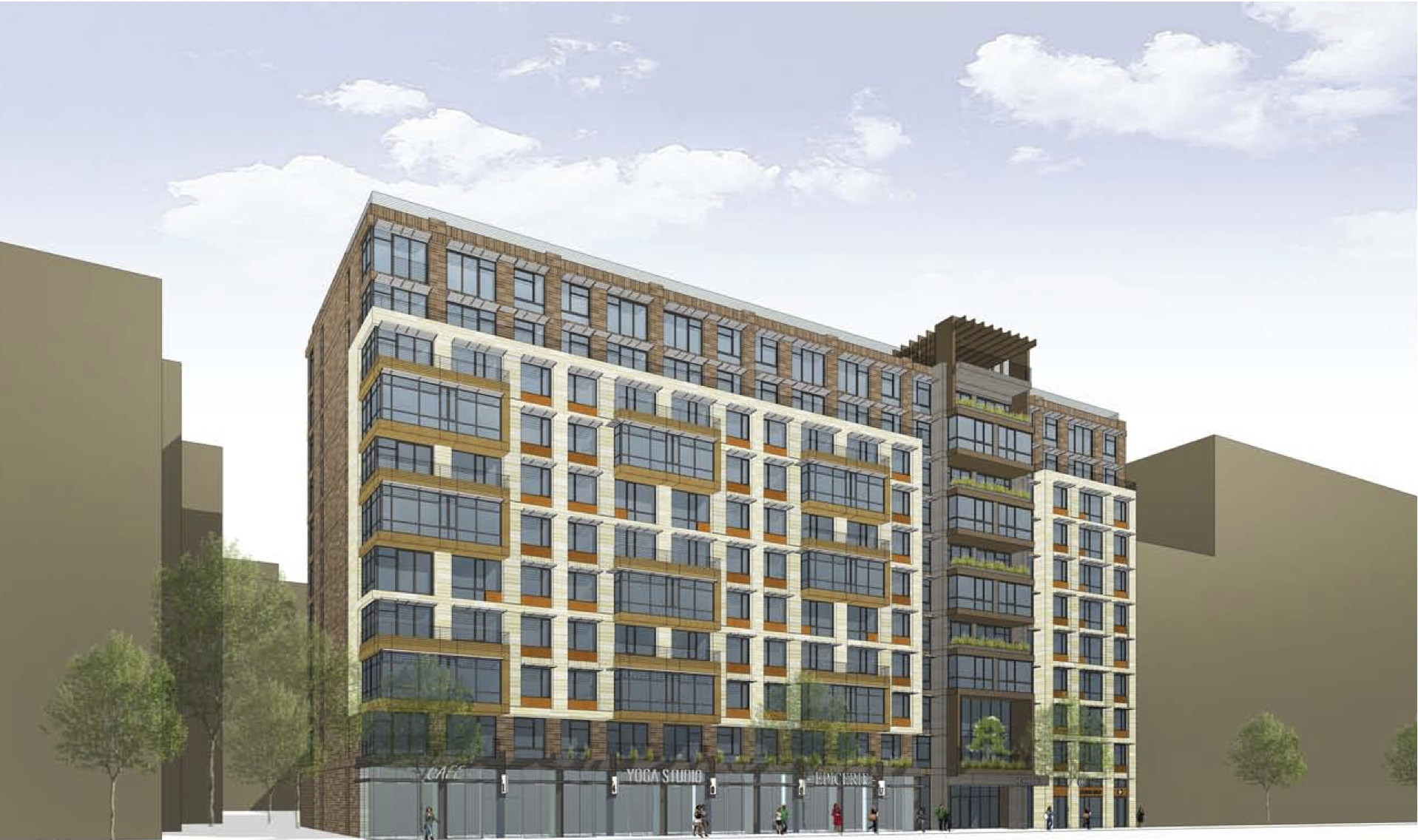 Preliminary plans for redevelopment of portner place for Furniture u street dc