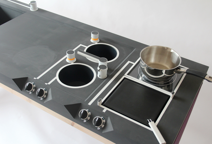 The Kitchen Prototype Is Made From Painted Mdf On A Pine Carcass With Plumbing Fittings For The Fixtures Following Feedback From Product Design