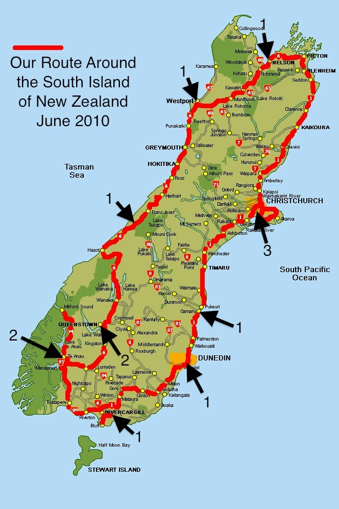Road Map Of New Zealand South Island.Back Home In Bkk New Zealand Was Wonder Full Dr Jeff Harper