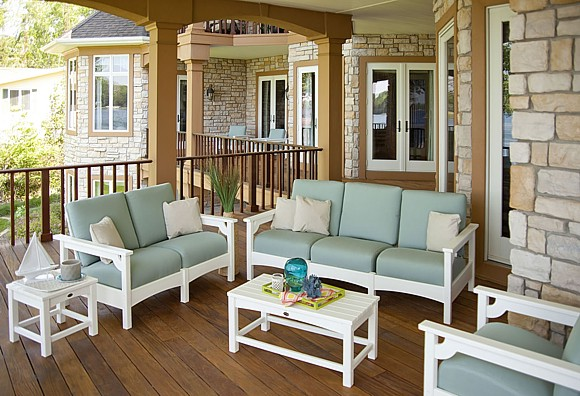 POLYWOOD Club 5 Piece Deep Seating Set Made Using HDPE Recycled Plastic.  Photo Courtesy Of POLYWOOD Furniture.