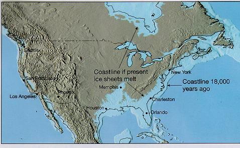 CommunityPolitics GreenVitals - Us map if all ice melted