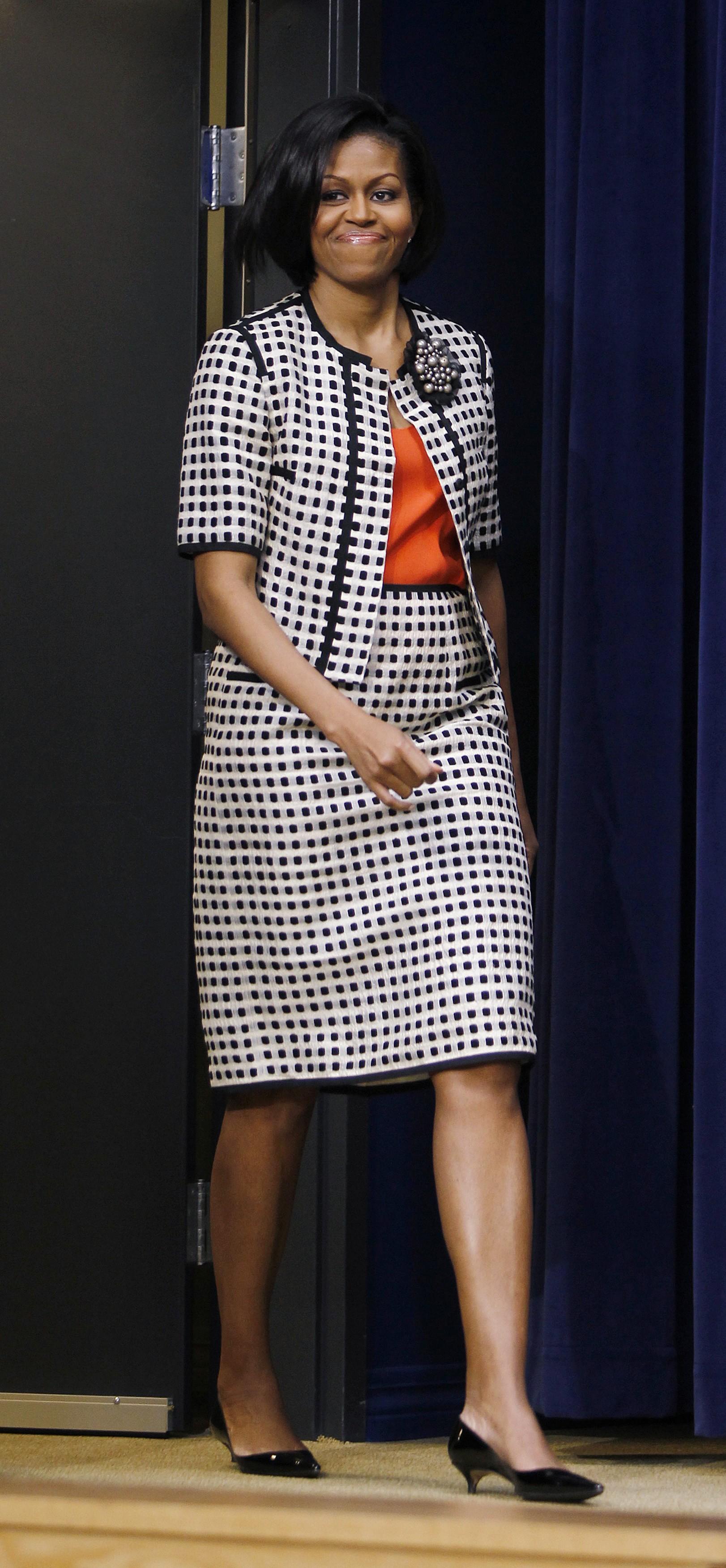 Michelle Obama Shoes Kitten Heels