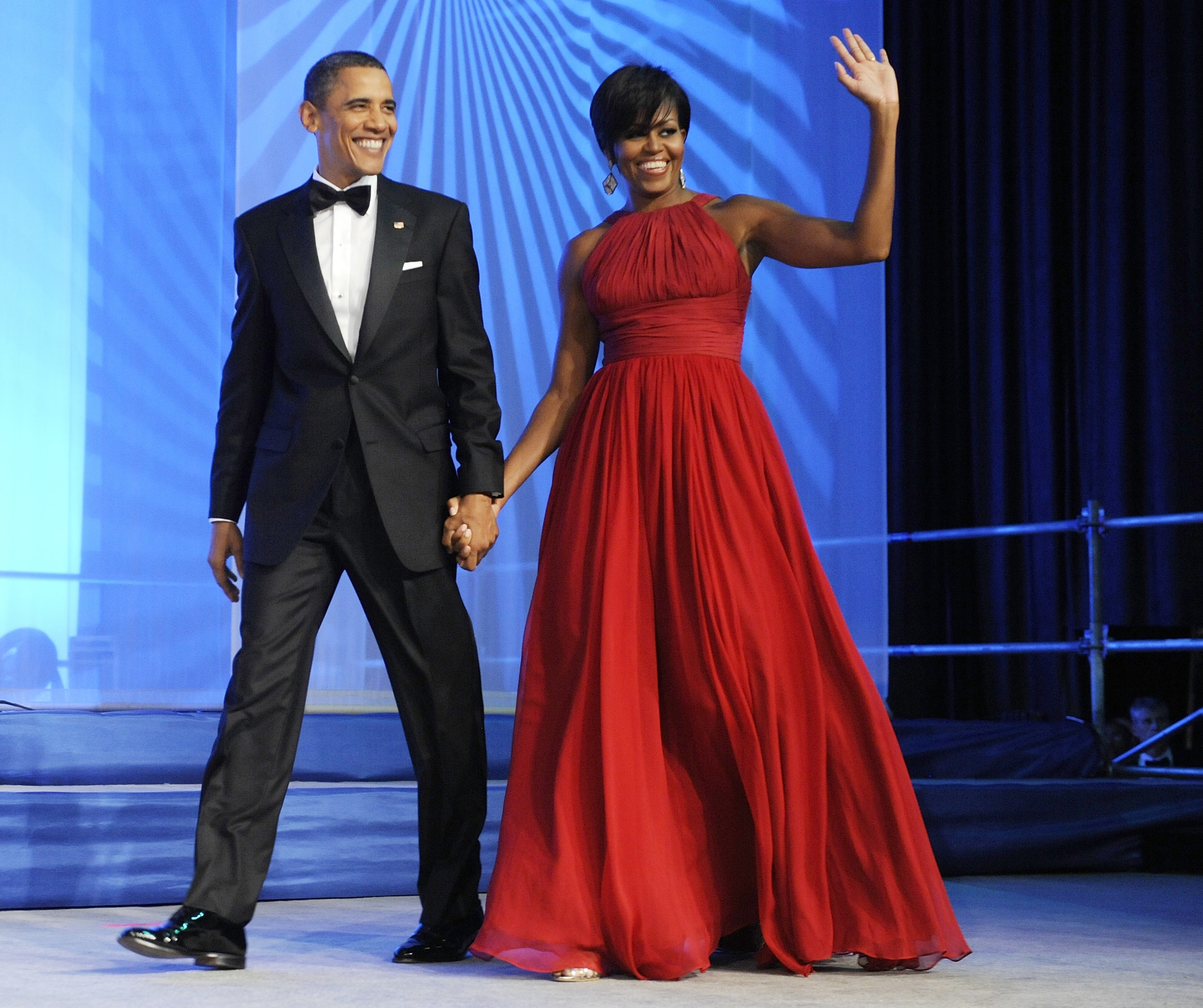 Michelle obama black evening dress